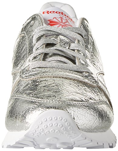 EU Femme Red Leather Basses Classic White Argent Met 35 HD Primal Silver Grey Snowy Sneakers Reebok ZApqRX