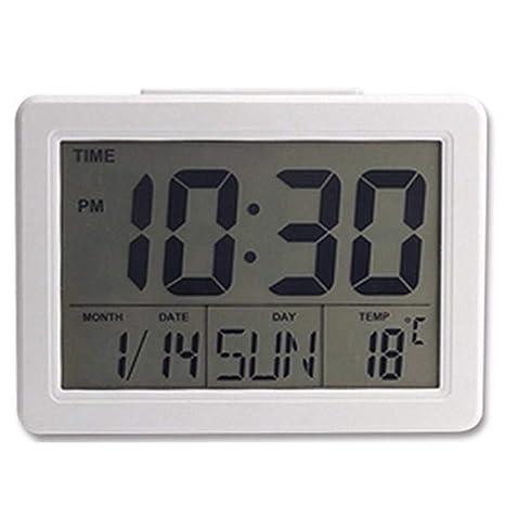 MJBOY Reloj Despertador Pantalla Grande Calendario ...