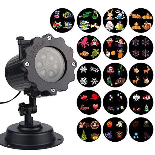 LAFALA Christmas Lights Projector - 2017 Upgrade Version 16PCS Slide LED Projector Landscape Light (Halloween In Times Square 2017)