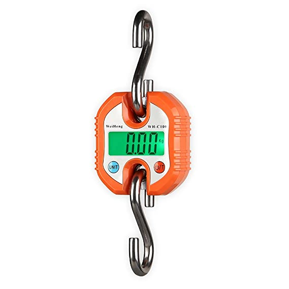 favourall 150 kg Electrónica Báscula grúa Digital grúa Balanza colgante batería de la Industria - Báscula Báscula LCD Tren de carga naranja: Amazon.es: ...