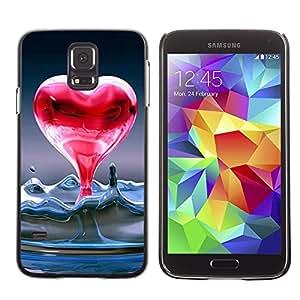 LECELL -- Funda protectora / Cubierta / Piel For Samsung Galaxy S5 SM-G900 -- Heart of liquid water --