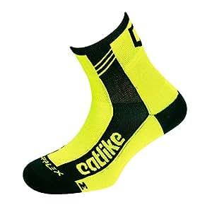 Catlike 37º Summer Time - Calcetines de ciclismo, color amarillo / flúor, talla L