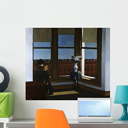 (Wallmonkeys Room in Brooklyn Edward Hopper Wall Decal Peel and Stick Graphic WM256484 (24 in W x 21 in H))
