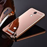 mobbysol®mirrorXiomMiNote3 Premium Luxury Metal Bumper Acrylic Mirror Back Cover Case For Xiaomi Redmi Note 3 (ROSE GOLD)