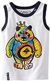 LRG – Kids Boys 2-7 Toddler Tie Dye Panda Tank Top Tee, White, 4/Toddler image