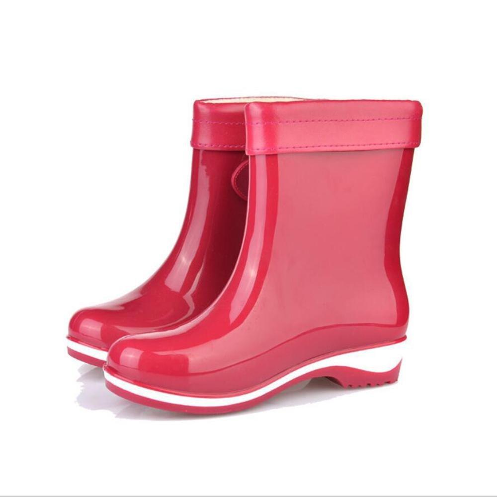 SIHUINIANHUA Süßigkeit Farbige Regenstiefel Rutschfeste Rutschfeste Rutschfeste Regenstiefel Damenmode Freizeitschuhe Flache Wasserstiefel 5 39 f98326