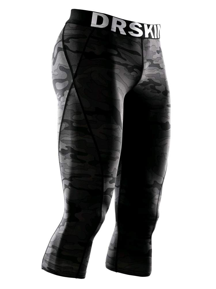 DRSKIN] Tight 3/4 Compression Pants Base Layer