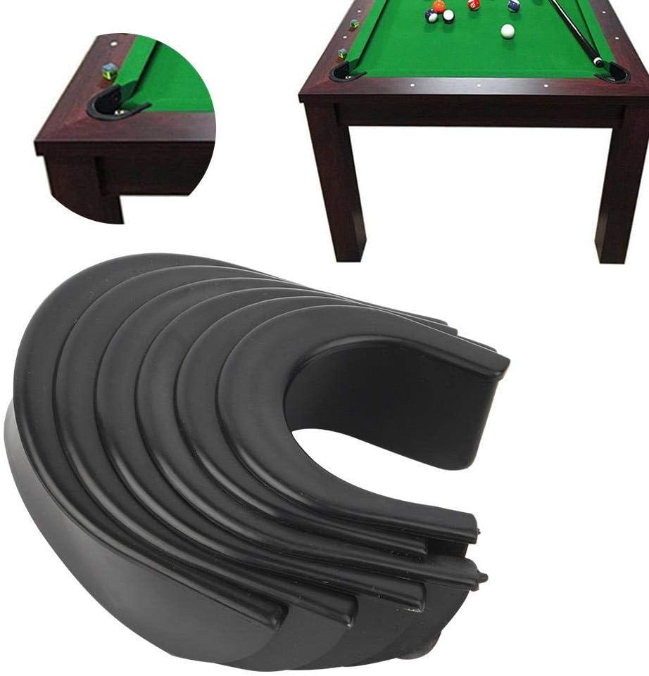 Alomejor 6 Pi/èces Doublure de Table de Billard Remplacement de Liners de Poche en Plastique pour Table de Billard 4 Coins Doublures Doublures 2 C/ôt/és