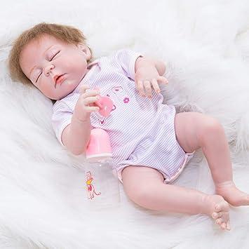 NACHEN Reborn muñeca simulación bebé 55 cm Realista recién Nacido ...