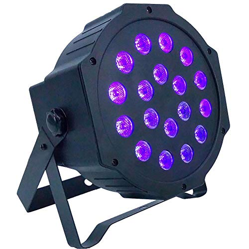 D Up Lighting 12 LED RGB Strobe Light Party Lights with Remote Control for Party KTV Pub Bar Show Wedding Ceremony US with Remote Control ()