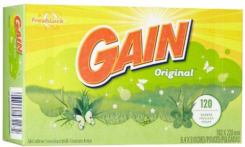 Gain Dryer Sheets - Original Fresh - 120 ct