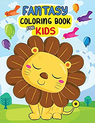 Fantasy Coloring Book For Kids Easy And Beautiful Animals In The