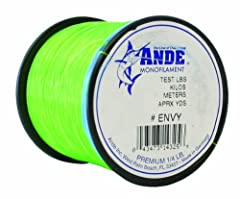 The ANDE A14-80GE Premium Monofilament Line is a medium-soft fishing line that is perfect for the vast majority of anglers. This widely-recognized line is abrasion resistant with excellent tensile and knot strength. The ANDE A14-80GE Premium ...