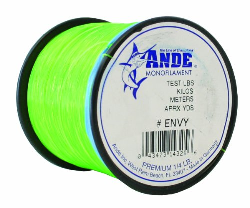 Ande Premium Monofilament Line with 80-Pound Test, Hi-Vis Green, 0.25-Pound Spool -