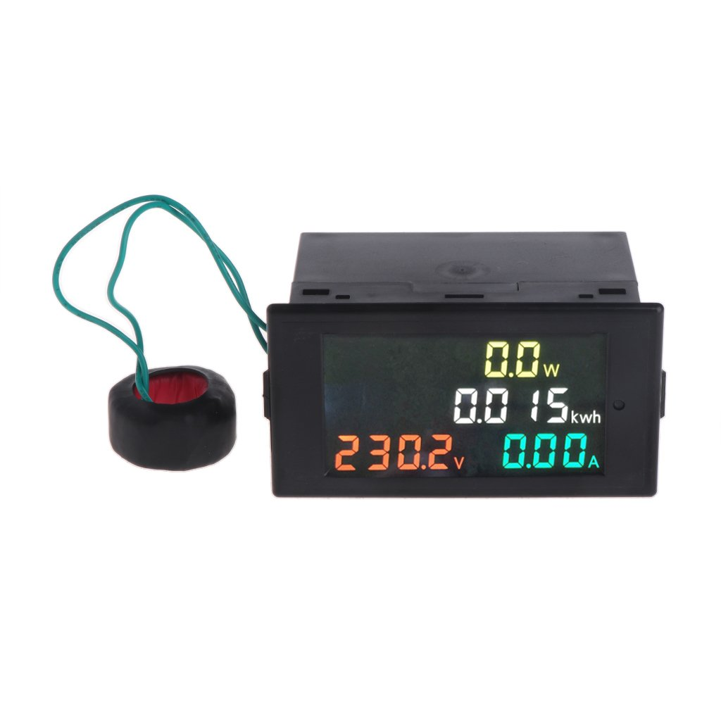 Kangnice AC 80-300V Voltmeter Ammeter Power Energy Meter Volt Amp Power Kwh Meter 100A CT