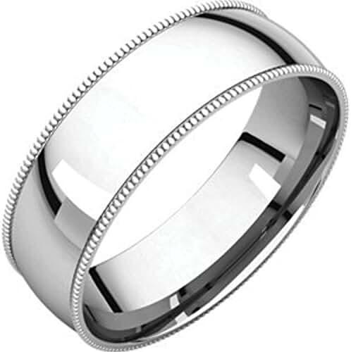 Palladium 6mm Light Comfort Fit Milgrain Band