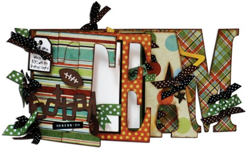Bo Bunny 6 Inch by 12 Inch My Word Chipboard Album, Team