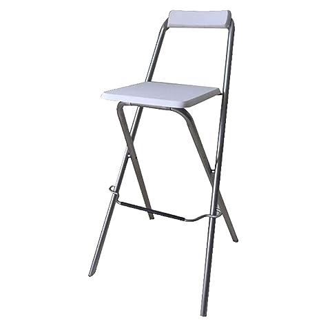 Phenomenal Amazon Com Bar Stool Folding Chair High Stool Folding Steel Machost Co Dining Chair Design Ideas Machostcouk