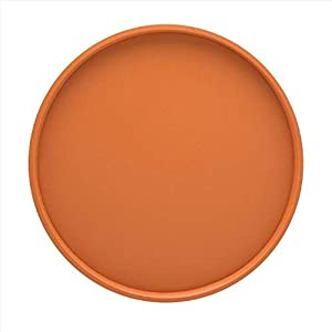 Kraftware Bartenders Choice Serving Tray - Spicy Orange, 14-Inch Food Tray for Coffee Table, Breakfast, Tea, Butler, Countertop, Kitchen, Vanity, Hotel Serve Tray