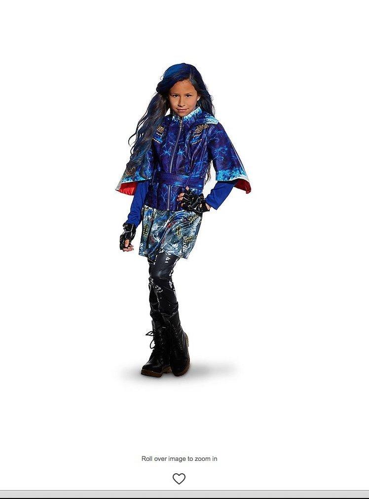 Disney Store Descendants Evie Costume for Girls ~ 5/6 (Jacket, Leggings, and Gloves) by Disney