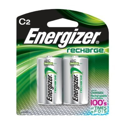 Energizer e2 C2 NiMH Rechargeable Batteries, C, 2/pack - Pack of 6 Total of 12 ()