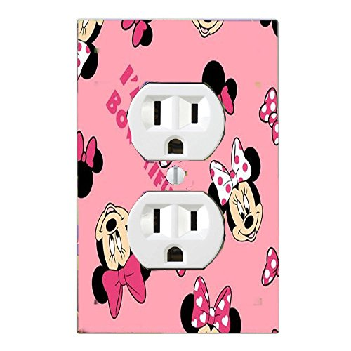 Disney Baby Minnie Mouse Sweet Wonder Light Switch Cover Nursery (1 x Outlet Cover) by Got You Covered