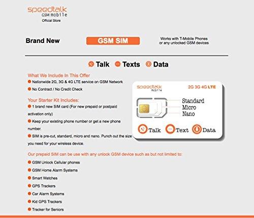 SpeedTalk Mobile Complete Multi-Purpose Triple Cut SIM