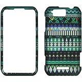 Sky Blue Tribal Motorola Photon Q LTE XT897 Sprint Case Cover Phone Snap on Cover Case Faceplates