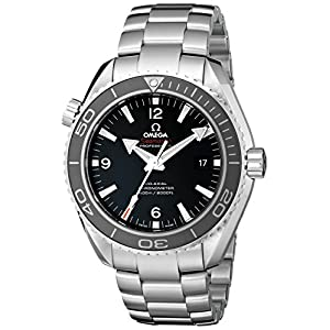51E2sIPEzqL. SS300  - Omega Seamaster Planet Ocean 600 Meters Co-Axial Black Dial Men's Watch (Model:232.30.46.21.01.001)