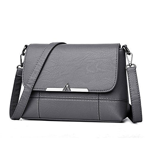 Zll Bag Women's Bag Messenger Simple Laptop Bag Women Shoulder Soft Gray Bag OrOqxBw