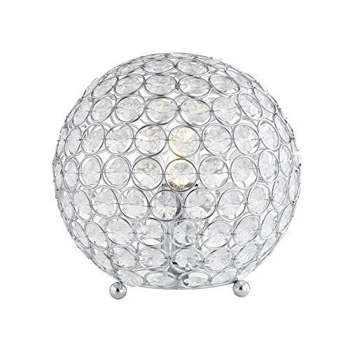 JONATHAN Y JYL1042A Table Lamp, Clear/Chrome