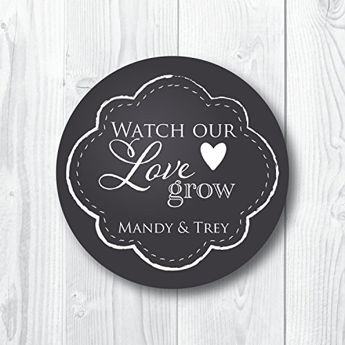 (Watch Our Love Grow Favor Stickers)
