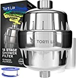 15 Stage Shower Filter with Vitamin C For Hard Water - Shower Filters Removes Chlorine Fluorine and...