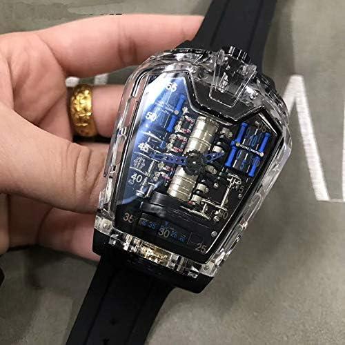 Automatique Montres mécaniques Hommes Montre à remontage Automatique Cadran tonneau Phase de Lune Lumineuse Montre-Bracelet Sport limitée