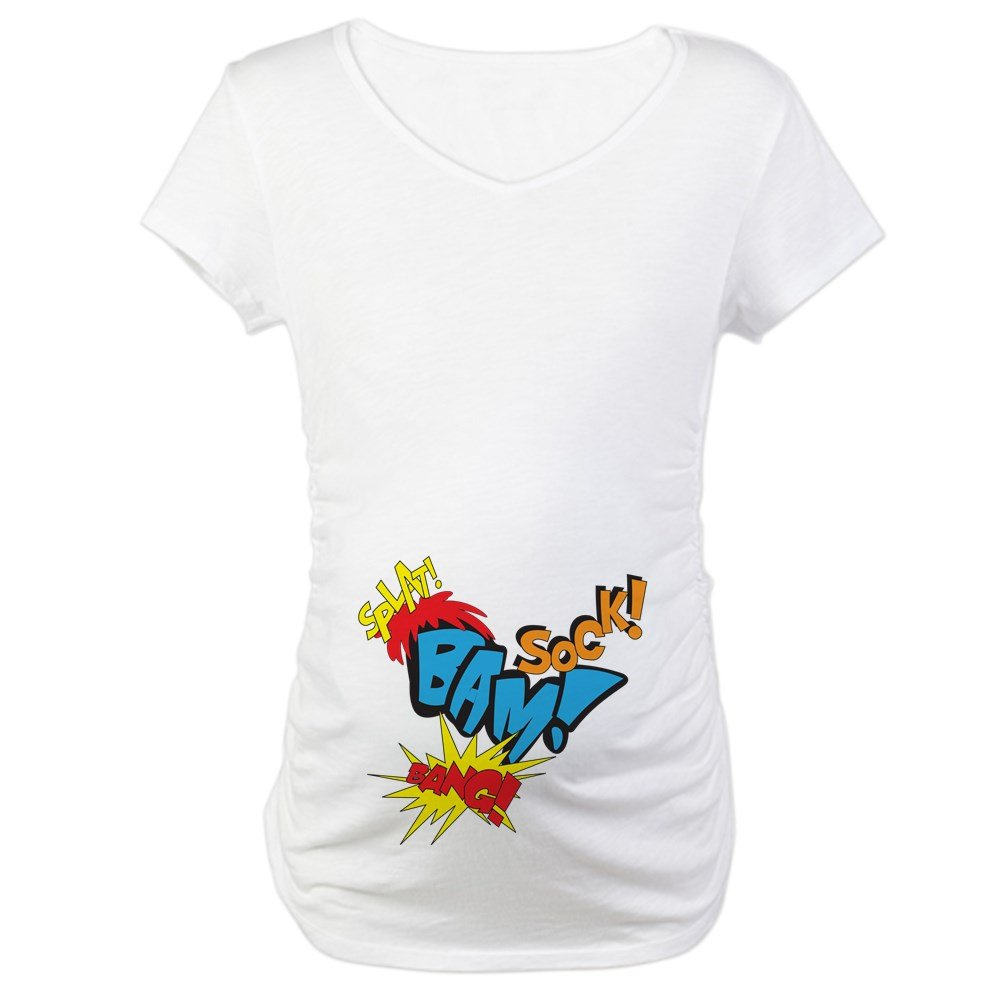 28e98d5cb36fe CafePress Growing a Super Hero Maternity Maternity Tee at Amazon Women's  Clothing store: