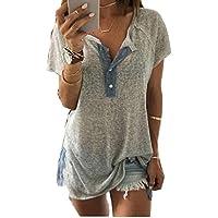 Camisas, sumen Mujeres Loose Casual botón blusa Plus tamaño