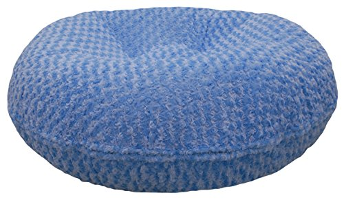 BESSIE AND BARNIE 36-Inch Bagel Bed for Pets, Medium, Blue Sky by BESSIE AND BARNIE