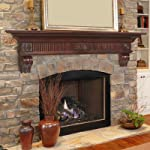 "Devonshire Fireplace Mantel Shelf Finish: Cherry Distressed, Shelf Length: 60"" by Pearl Mantels"