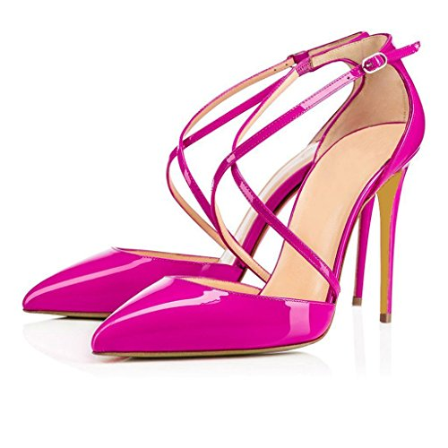 Heel AIWEIYi Closed High Toed Stiletto Dress Pump Platform RosePink Womens wqSvTqX