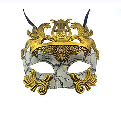 BAWASEEHI Mens Masquerade Mask Greek Roman Party Mask Mardi Gras Carnival Halloween -