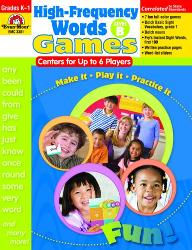 High-Frequency Words: Center Games for Up to 6 Players, Level (Dolch Basic Sight Words)