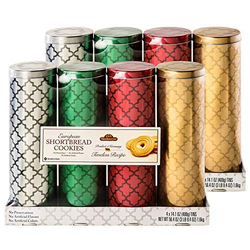 European Shortbread Cookies Tins- Holiday Gifts- 8 Tins