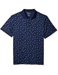 Men's Big and Tall Short Sleeve Printed Knit Polo