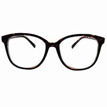 593fb9fad6e5 Image Unavailable. Image not available for. Color  HUIHUIKK +1.75 Oversize  Bifocal Reading Glasses D Shape Bifocals Readers Tortoise Frames
