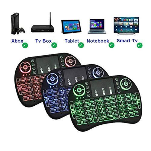 Mini Teclado Sem fio Iluminado Touch 3 Cores Led Tv box, Ps4, xbox,