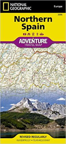 northern spain national geographic adventure map national