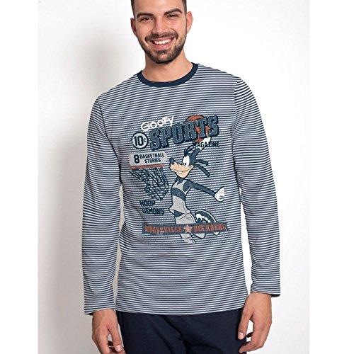 "Disney - Pijama DISNEY Hombre Invierno GOOFY ""Sports Magazine"" ..."