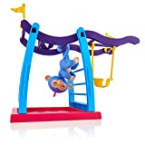 WowWee Fingerlings Playset, Monkey Bar Playground & Liv The Baby, Blue with Pink Hair