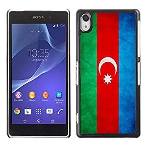 Shell-Star ( National Flag Series-Azerbaijan ) Fundas Cover Cubre Hard Case Cover para SONY Xperia Z2 / D6502 / L50W