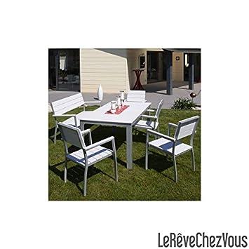 Table aluminium composite lame blanche: Amazon.fr: Jardin